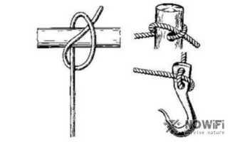 Как завязать самозатягивающийся узел