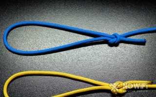 Как завязать скользящий узел на леске