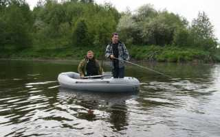 Лодка надувная двухместная для рыбалки